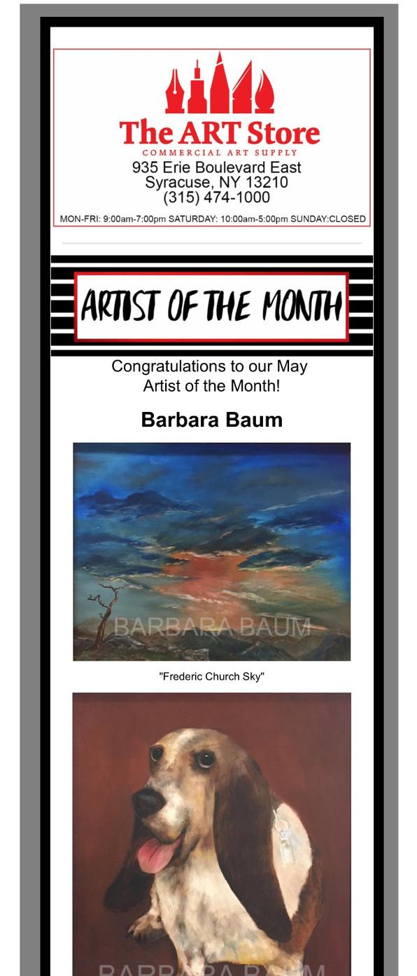 Barbara Baum Artist of the Month