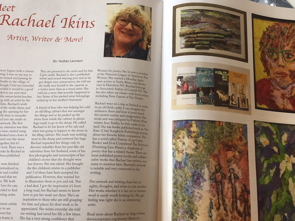 Rachael Ikins has featured spread in CNY Magazine