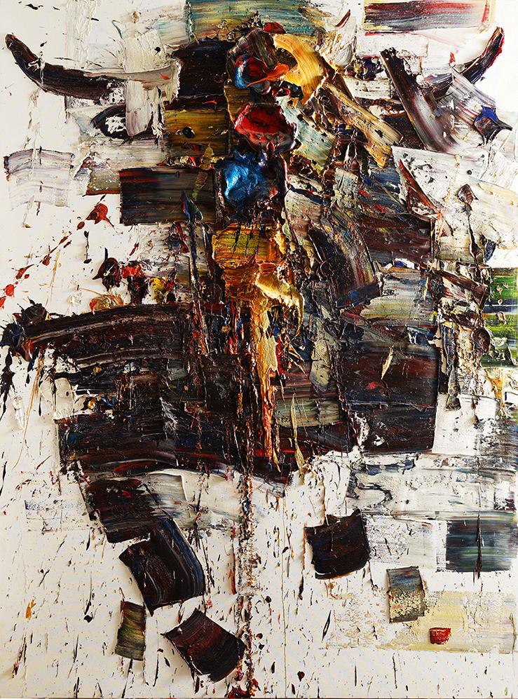 Wild aura 2015 bull 045, Oil on canvas, 259.1x193.9cm, 2015