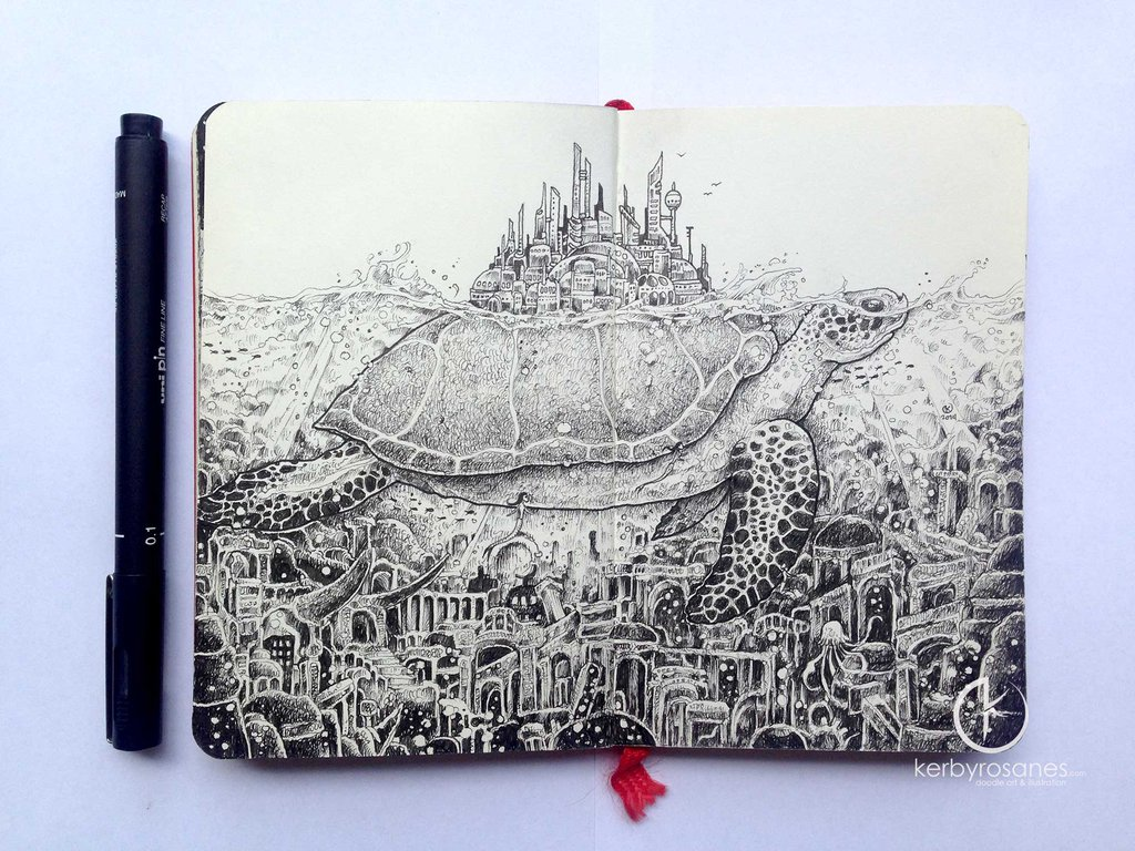 moleskine_doodles__lost_city_by_kerbyrosanes-d8cmzg3