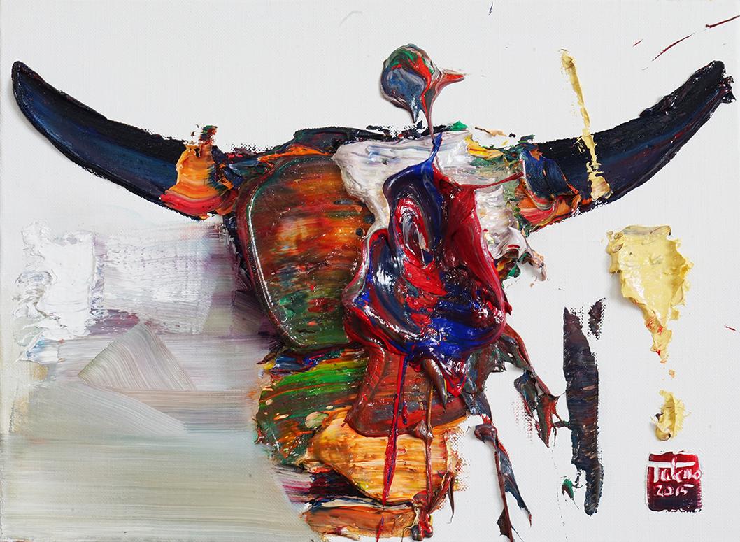 Wild aura 2015 bull 036, Oil on canvas, 45.5x33.4cm, 2015