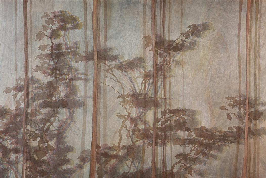 그들의 시선, 장지에 채색, 194x130, 2015