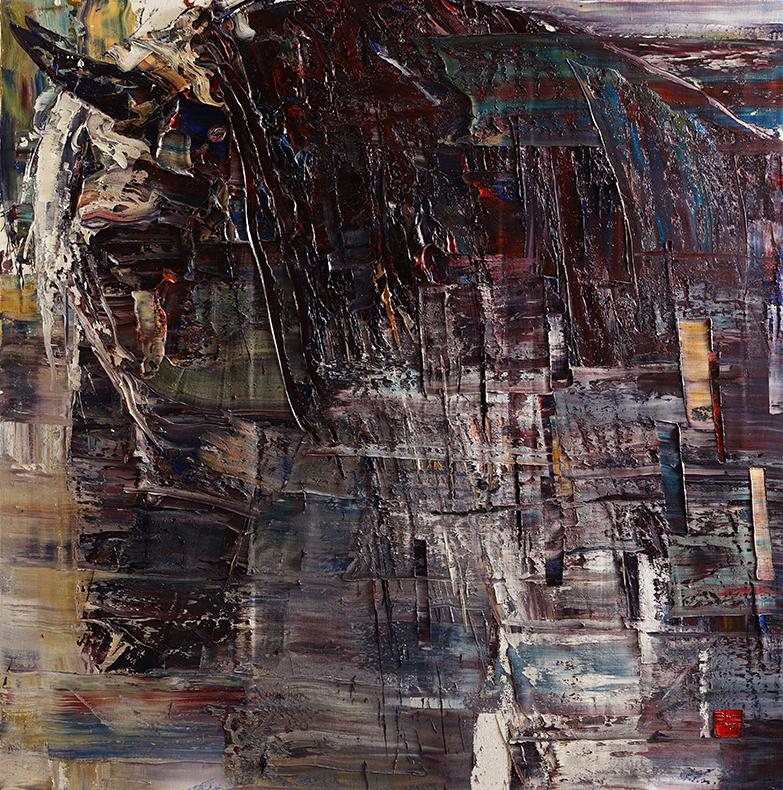 wild aura 2015 horse 011, Oil on canvas, 180x180cm, 2015