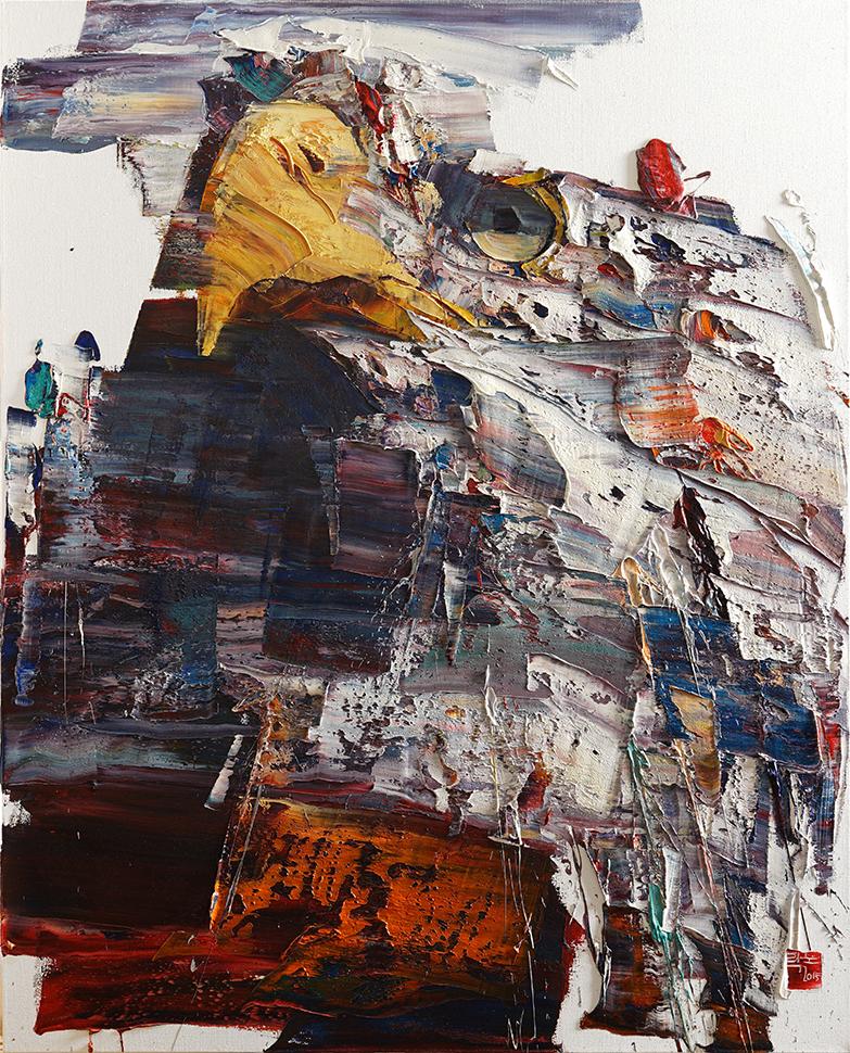 Wild aura 2015 eagle 020, Oil on canvas, 162.2x130.3, 2015