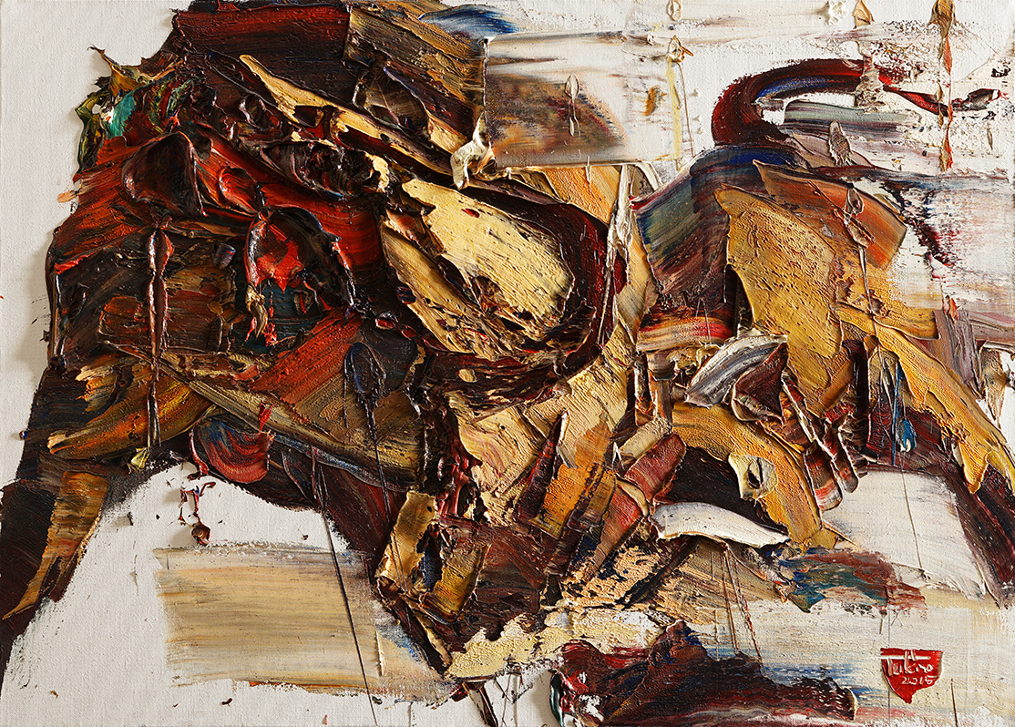 Wild aura 2015 bull 047, Oil on canvas, 90.9x65.1cm, 2015