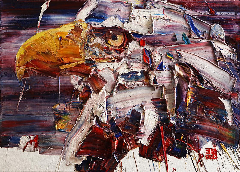 Wild aura 2016 eagle 004, Oil on canvas, 90.9x65.1cm