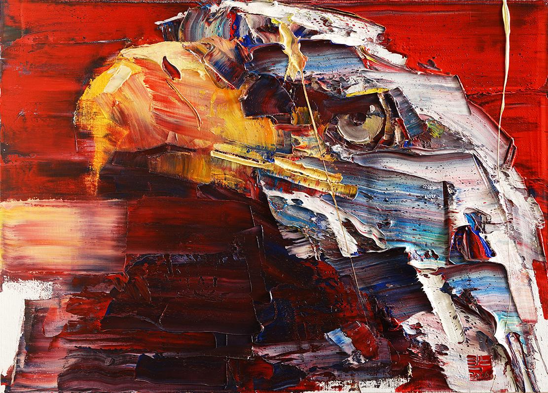 Wild aura 2016 eagle 005, Oil on canvas, 90.9x65.1cm