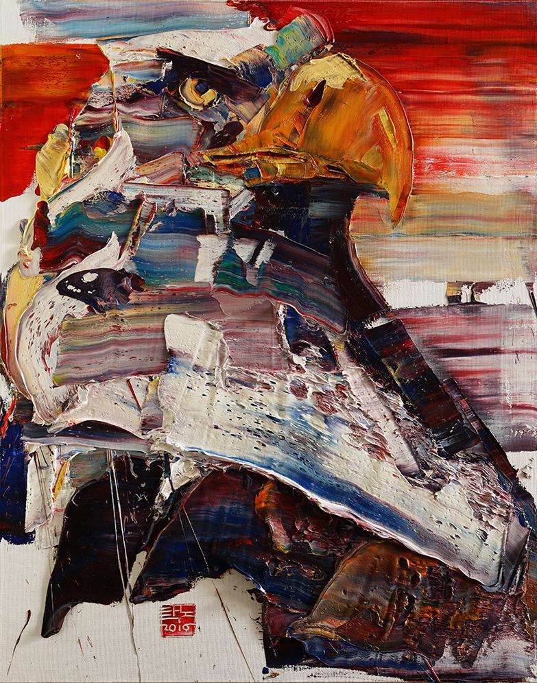 Wild aura 2016 eagle 002, Oil on canvas, 90.9x72.7cm