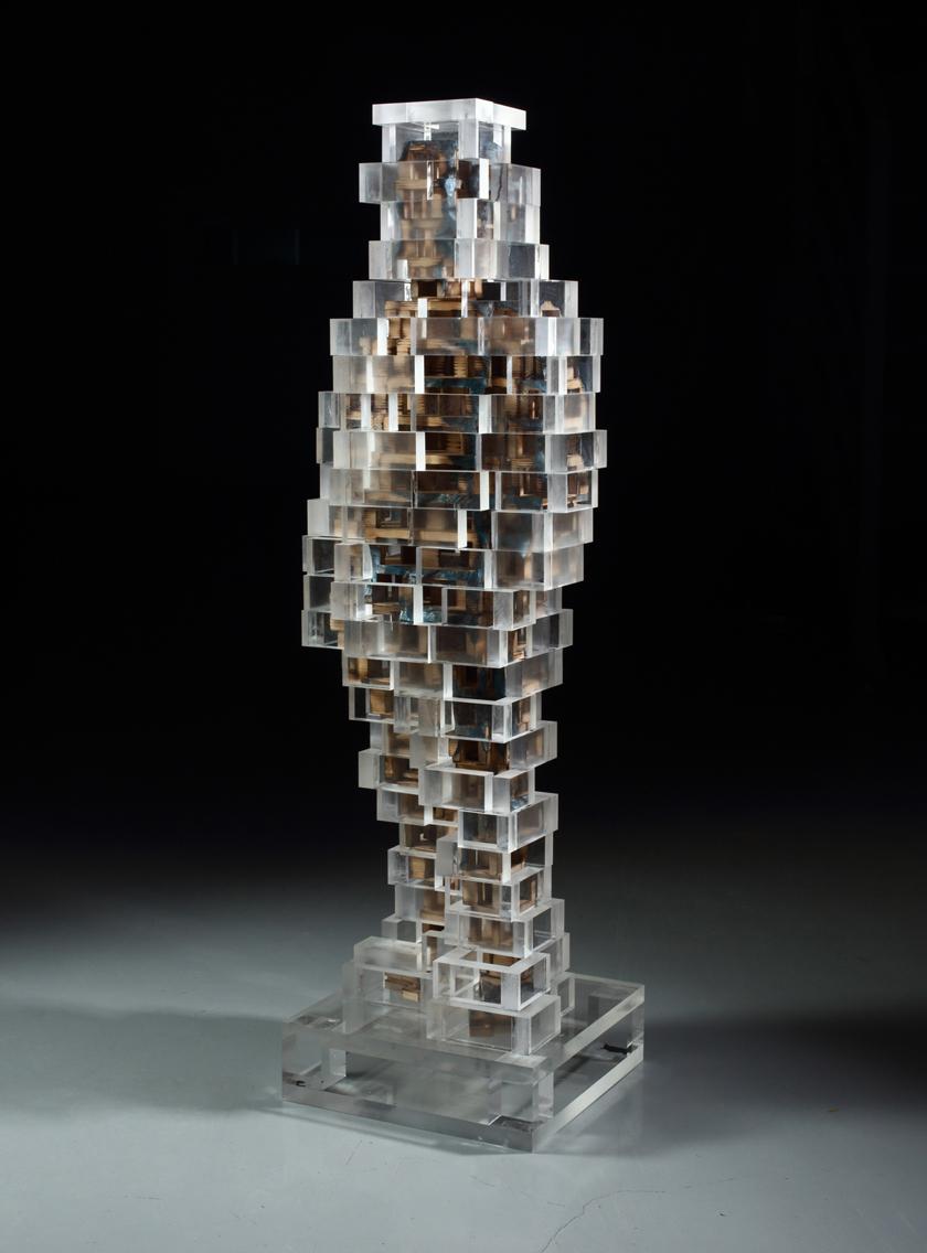 Build life-boy2(인생건축-소년2)_wood(나무),acrylic(아크릴)_2015