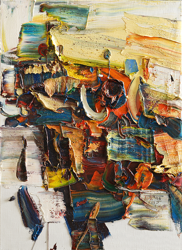 Wild aura 2015 bull 009, Oil on canvas, 72.7x53.0cm, 2015