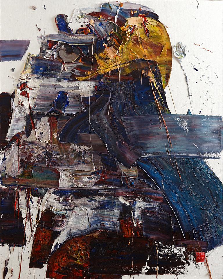 Wild aura 2015 eagle 023, Oil on canvas, 162.2x130.3cm, 2015