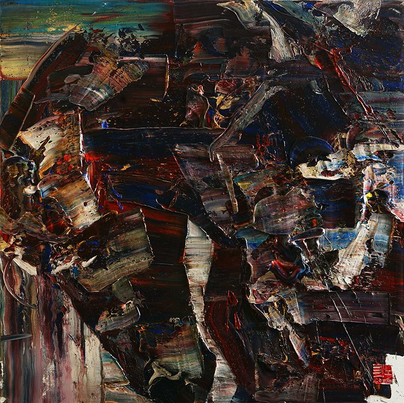 wild aura 2016 horse 003, Oil on canvas, 2016