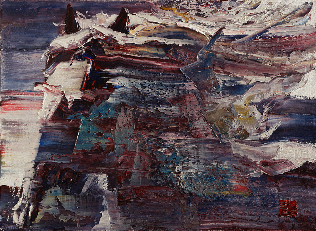 wild aura 2015 horse 019, Oil on canvas, 72.7x53.0cm, 2015