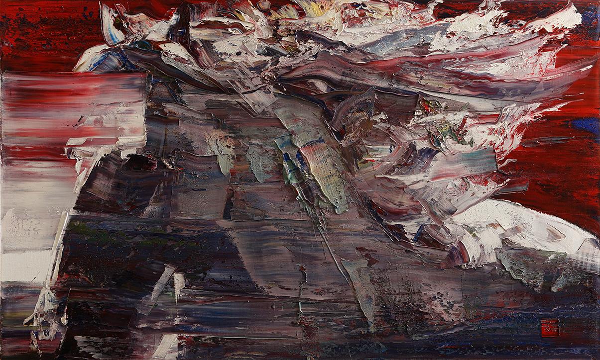 wild aura 2015 horse 017, Oil on canvas, 162.2x112.1cm, 2015