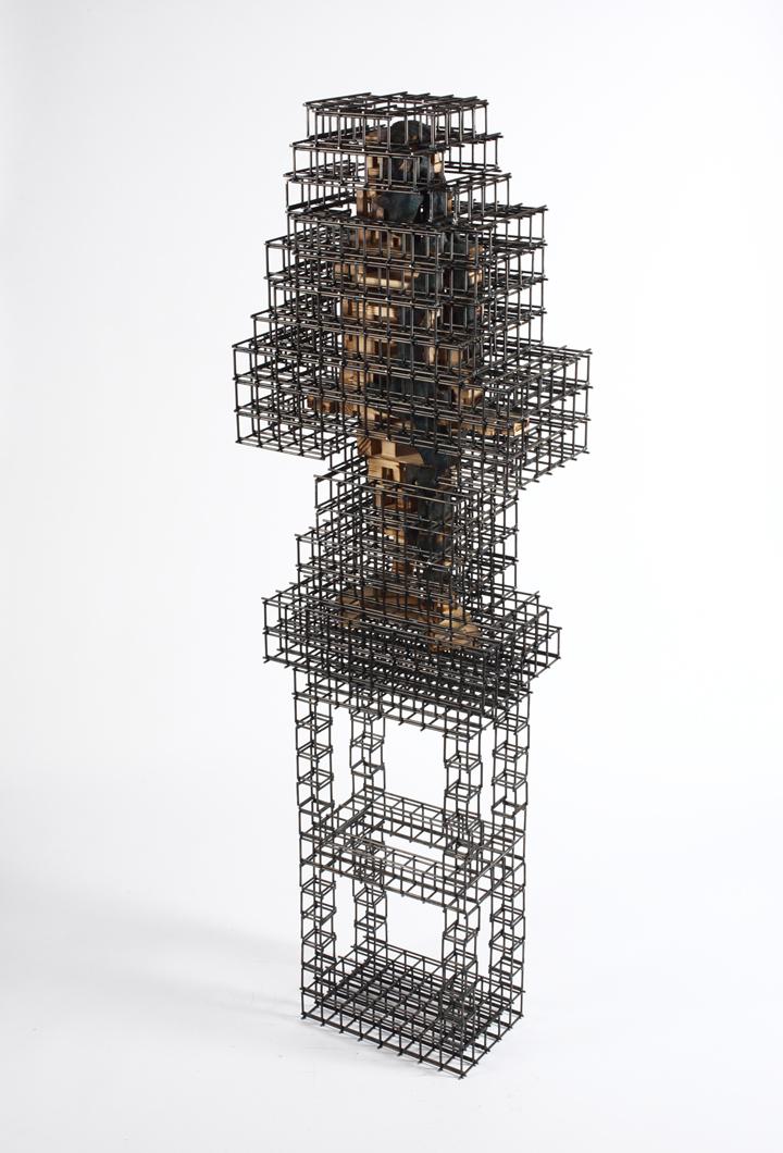 Build life-girl2(인생건축-소녀2)_wood(나무),steel(철)_2015