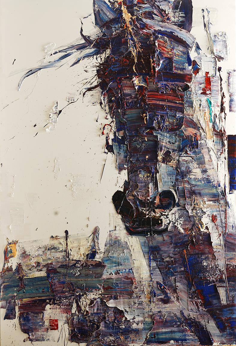 wild aura 2016 horse 001, Oil on canvas, 290.9x197.0cm, 2015