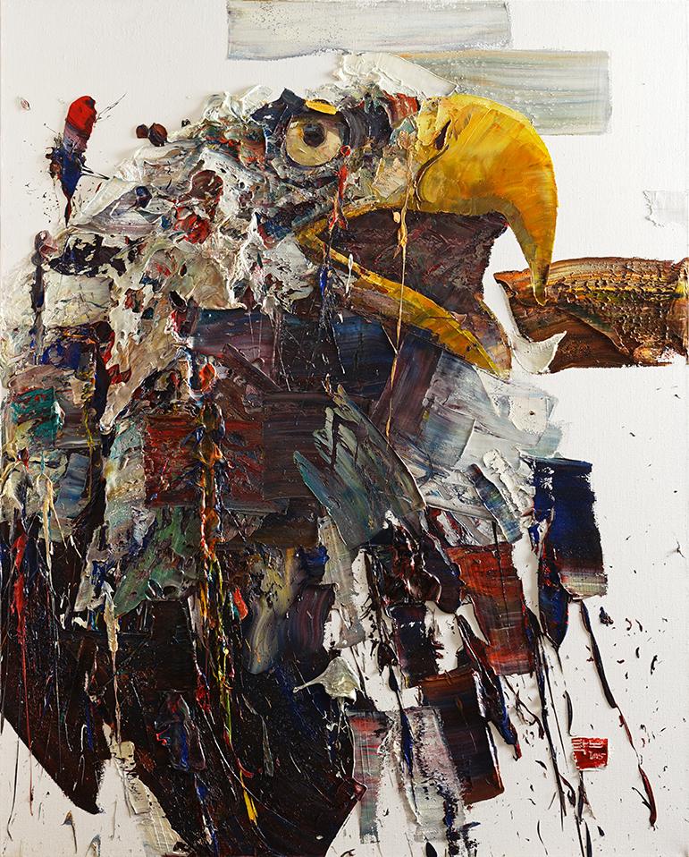 Wild aura 2015 eagle 015, Oil on canvas, 162.2x130.3cm, 2015