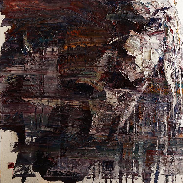 wild aura 2015 horse 012, Oil on canvas, 180x180cm, 2015