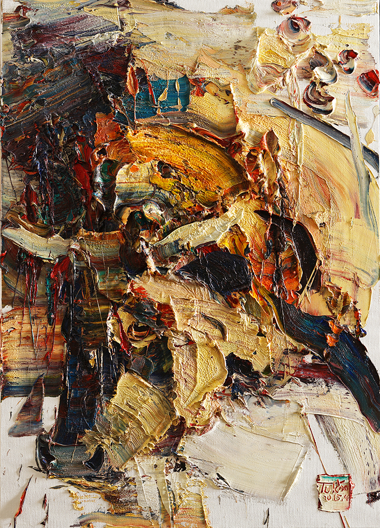 Wild aura 2015 bull 017, Oil on canvas, 90.9x 65.1cm, 2015