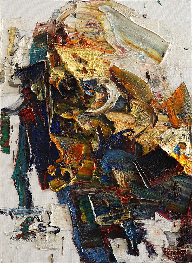 Wild aura 2015 bull 008, Oil on canvas, 72.7x53.0cm, 2015