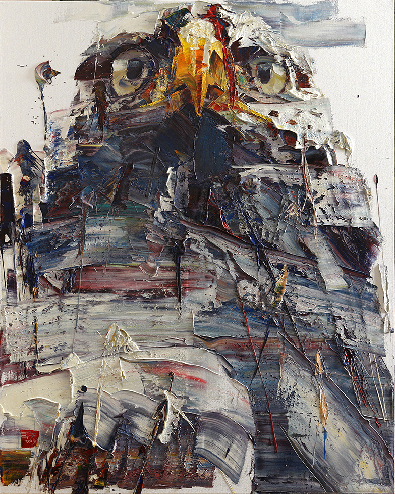 Wild aura 2015 eagle 018, Oil on canvas, 162.2x130.3, 2015