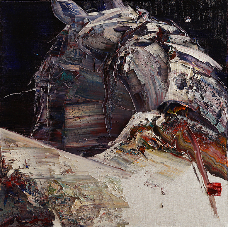 wild aura 2015 horse 016, Oil on canvas, 100x100cm, 2015