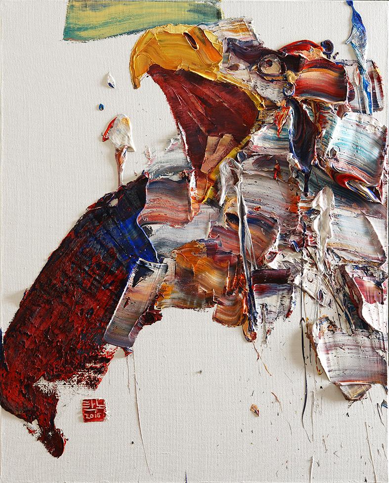 Wild aura 2016 eagle 003, Oil on canvas, 90.9x72.7cm