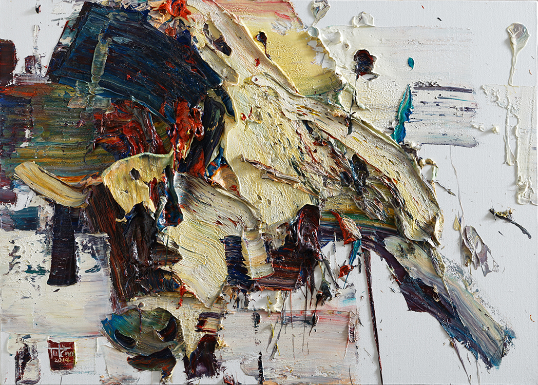 Wild aura 2015 bull 031, Oil on canvas, 90.9x65.1cm, 2015