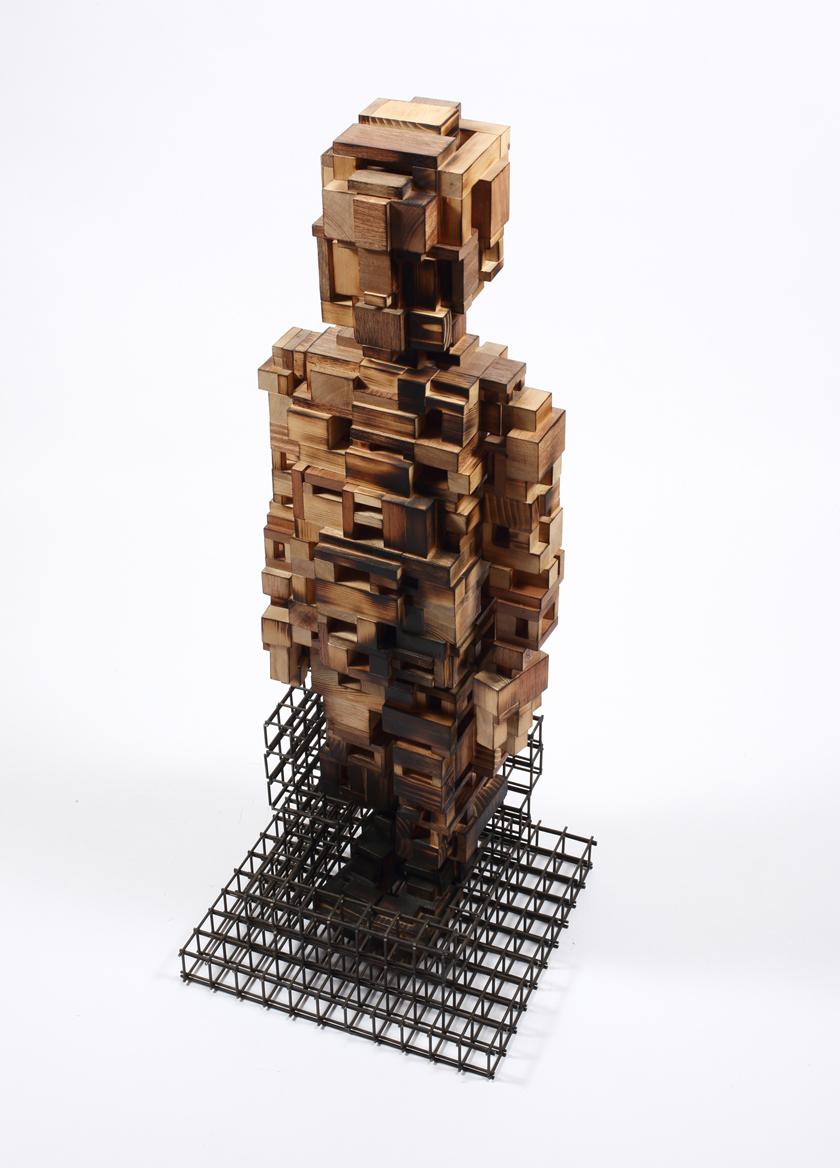 Build life-boy1(인생건축-소년1)_wood(나무),steel(철)_2014