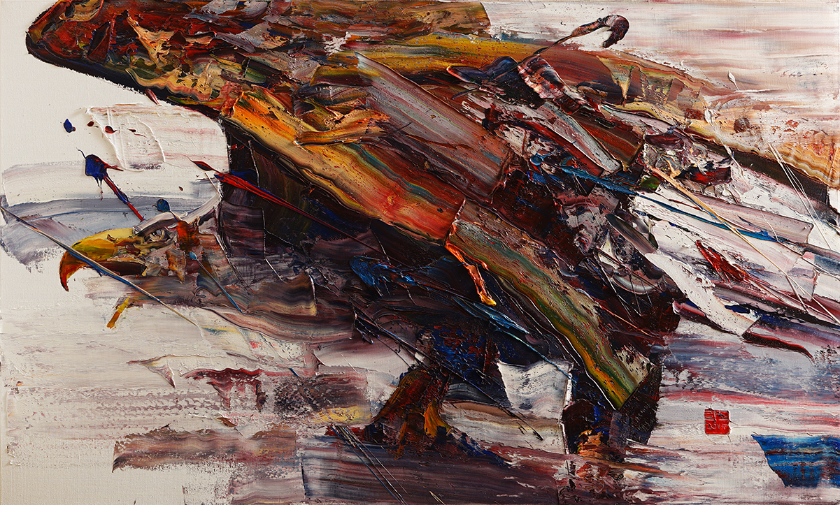 Wild aura 2015 eagle 024, Oil on canvas, 162.2x97.0cm, 2015