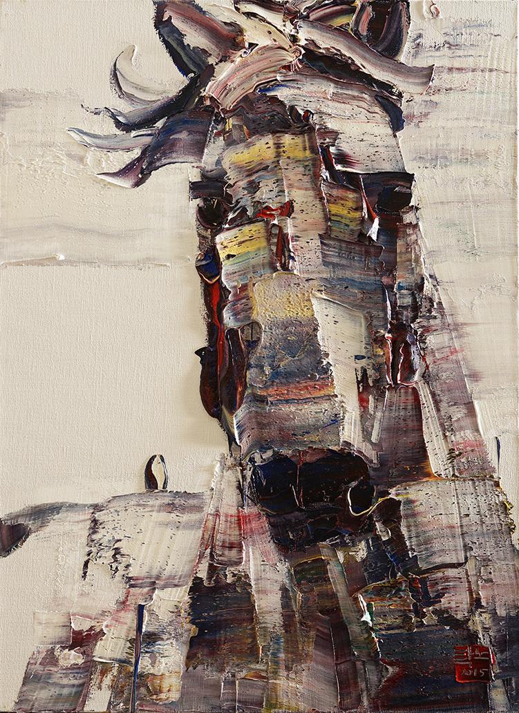 wild aura 2015 horse 020, Oil on canvas, 72.7x53.0cm, 2015