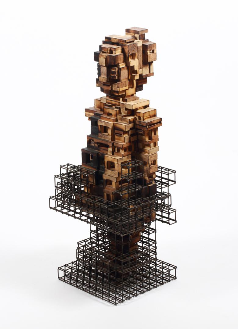 Build life-girl1(인생건축-소녀1)_wood(나무),steel(철)_2014