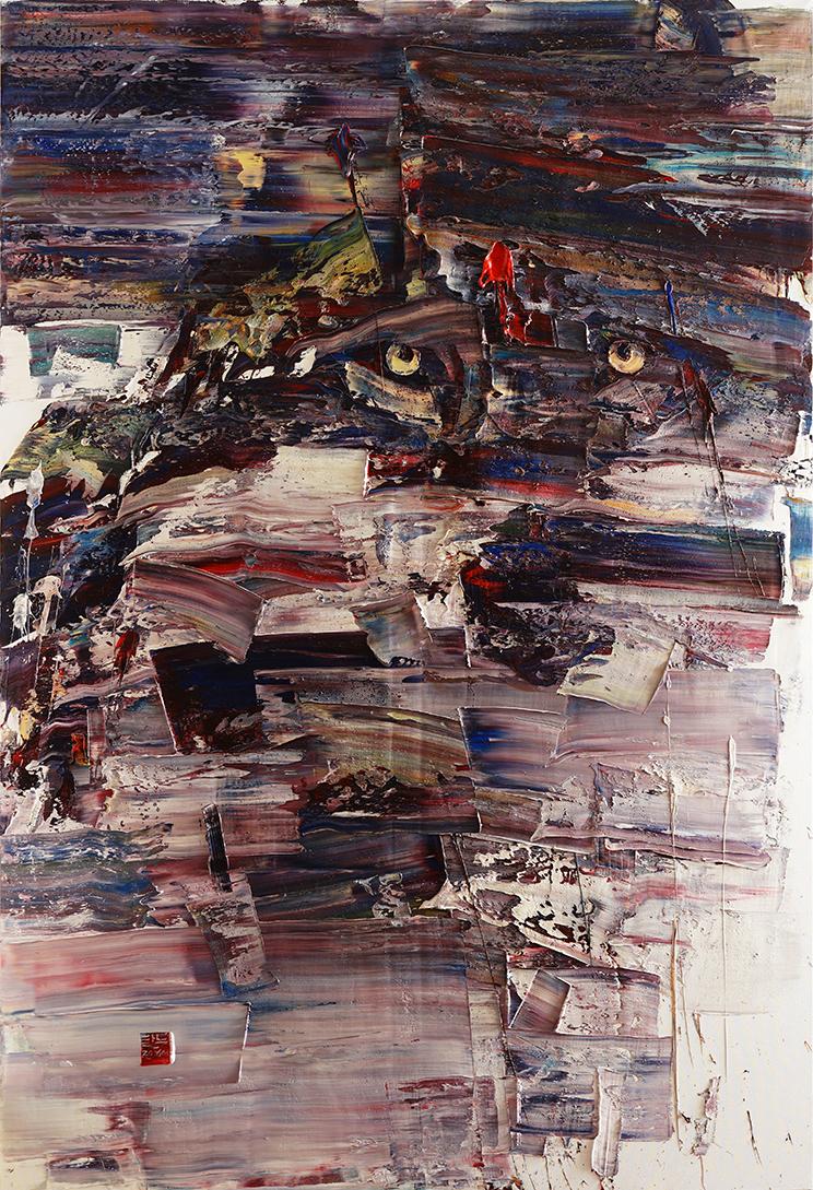 wild aura 2016 wolf 001, Oil on canvas, 290.9x197.0cm, 2016