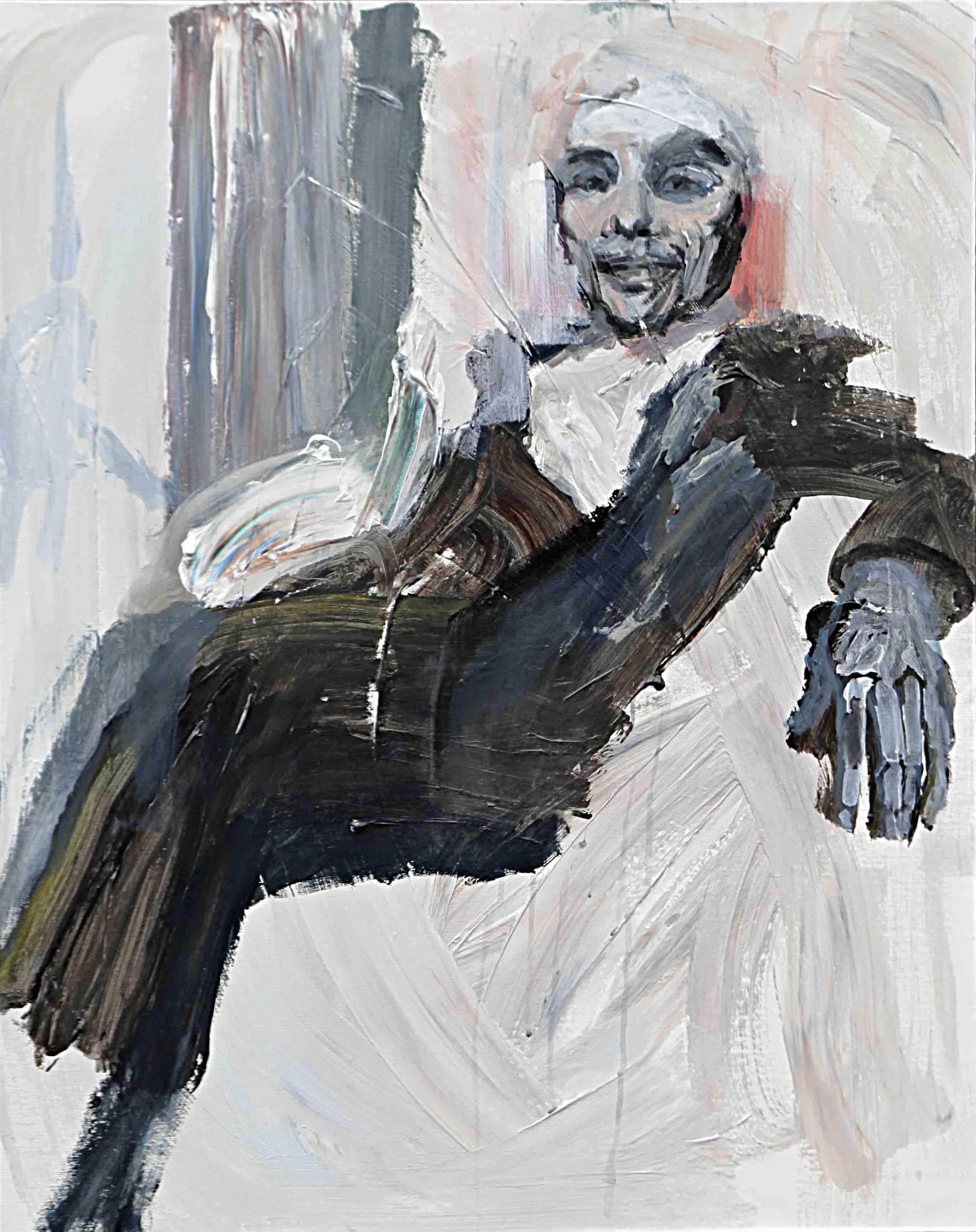 사이공간16, 90.9 x 72.7 cm. pen, acrylic on canvas, 2015