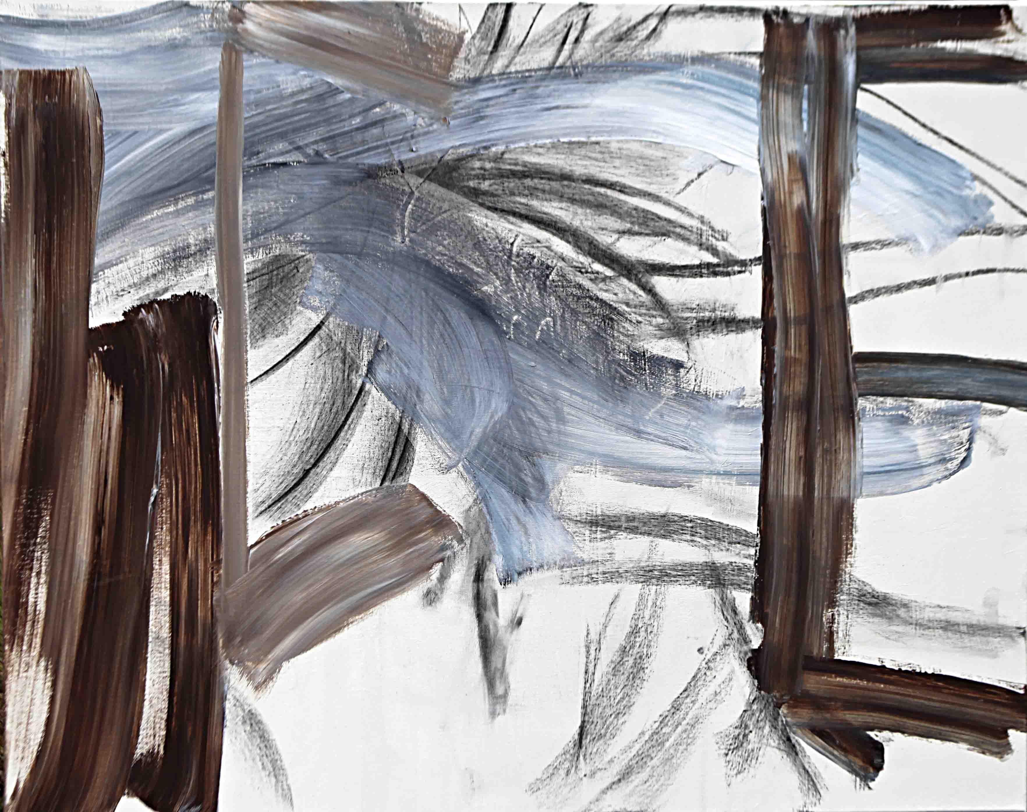 사이공간22, 72.7 x 100 cm. pen, acrylic on canvas, 2016