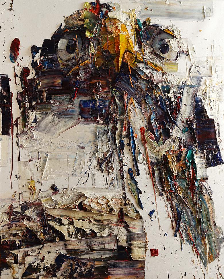 Wild aura 2015 eagle 017, Oil on canvas, 227.3x181.8cm, 2015