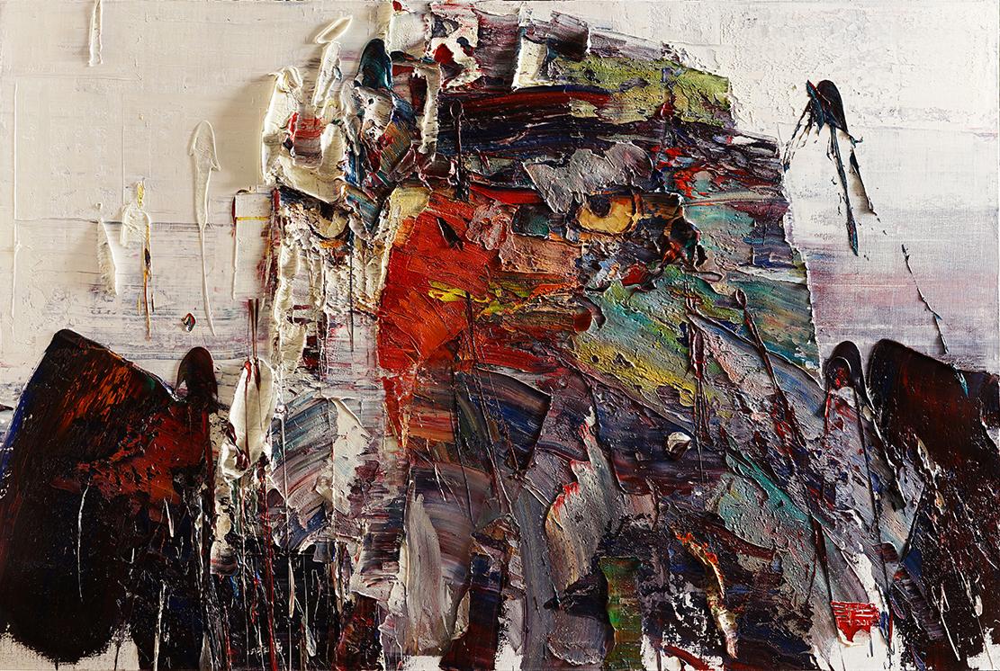 Wild aura 2015 eagle 014, Oil on canvas, 145.5x97.0cm, 2015