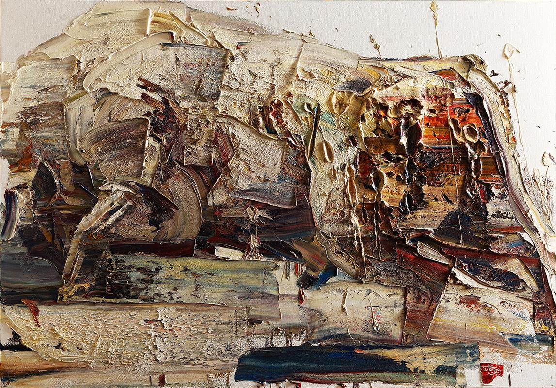 Wild aura 2015 bull 033, Oil on canvas, 162.2x112.1cm, 2015