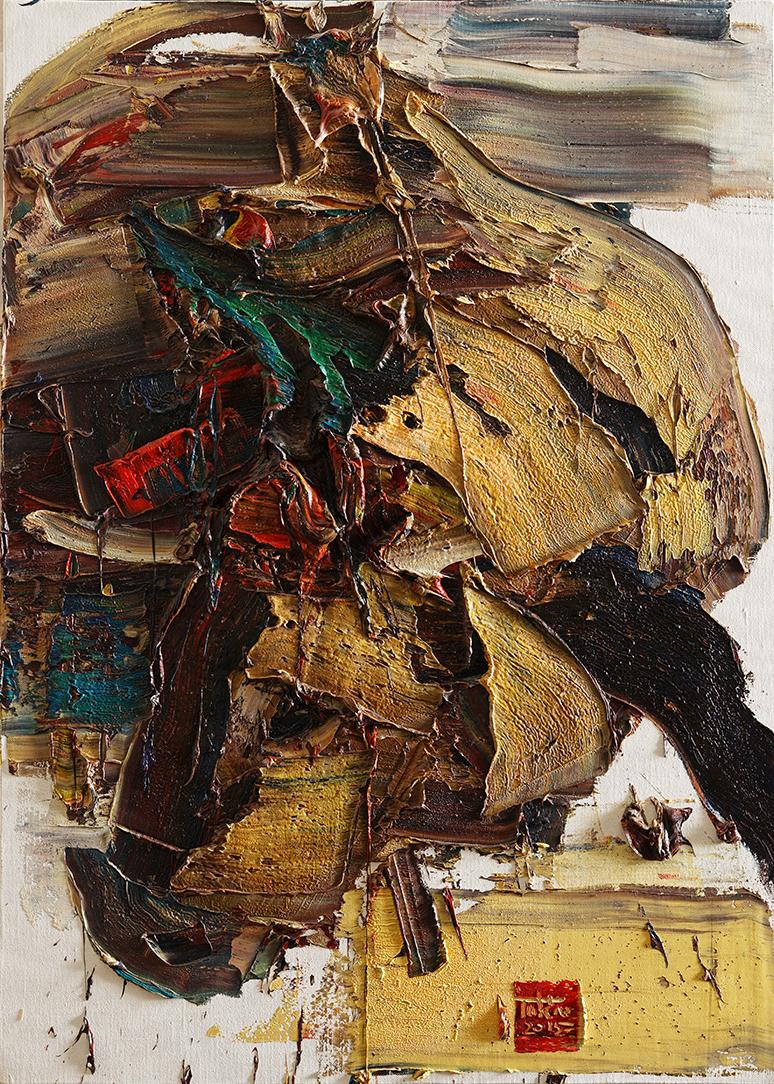 Wild aura 2015 bull 018, Oil on canvas, 90.9x65.1cm, 2015