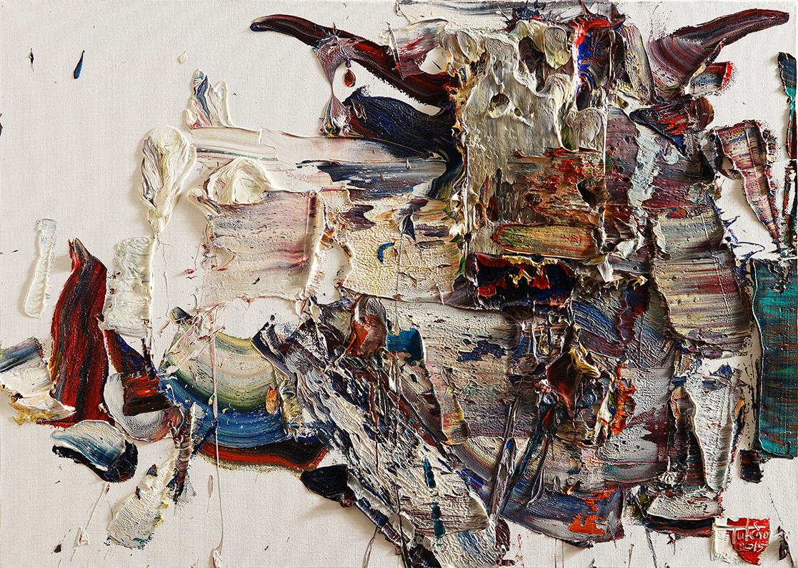 Wild aura 2015 bull 024, Oil on canvas, 90.9x65.1cm, 2015