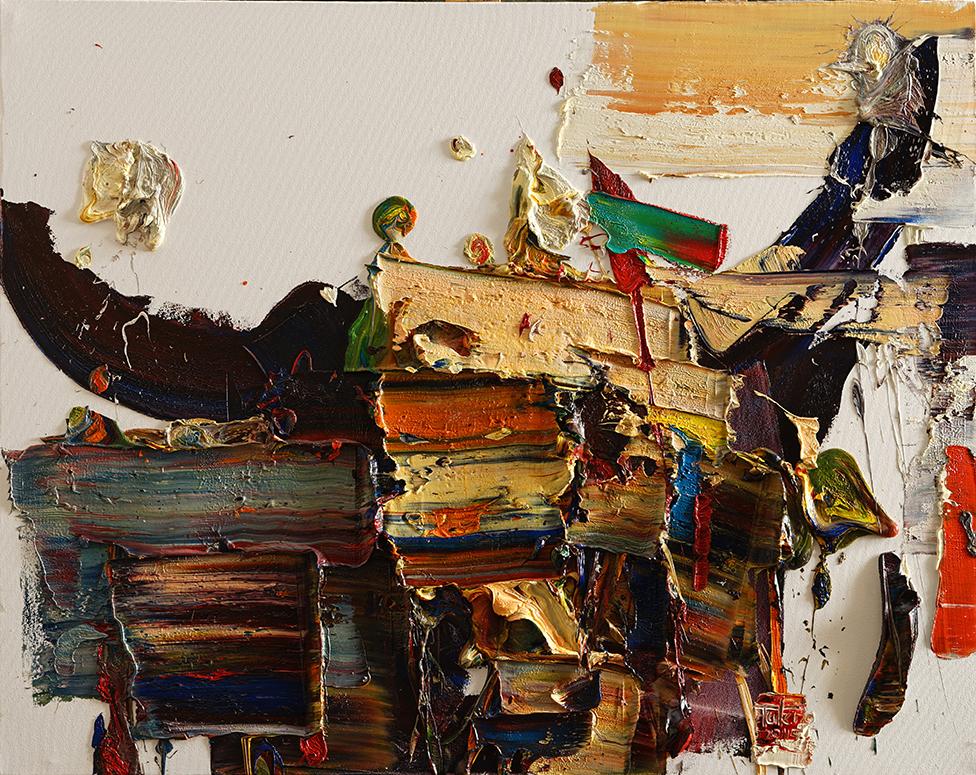Wild aura 2015 bull 025, Oil on canvas, 90.9x72.7cm, 2015