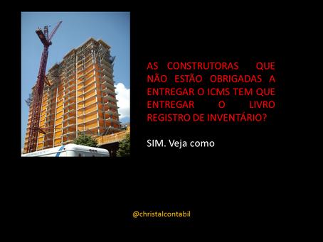 LIVRO DE INVENTÁRIO NA CONSTRUÇÃO CIVIL