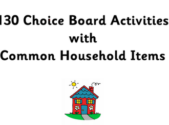 130 Activities to do with household items