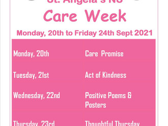 Care Week September 20th to 24th 2021