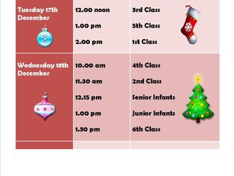 Christmas Shows timetable!