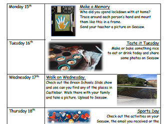 Fun Activities June 15th to 26th