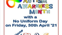 No Uniform Day Day Friday April 30th