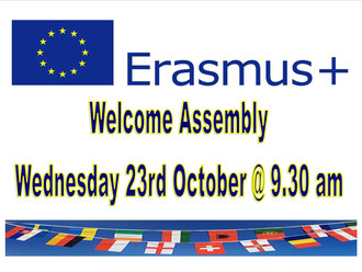 Welcoming our Erasmus Visitors on Wednesday