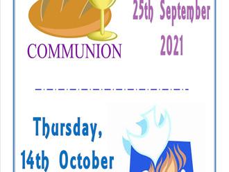 Communion & Confirmation Dates