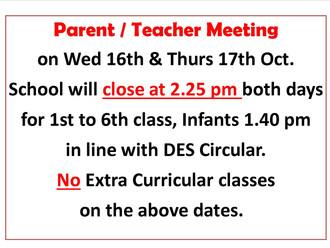 Parent / Teacher Meetings 2019